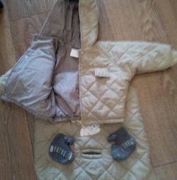 3 в 1. Курточка, мешок для ножек и пинетки