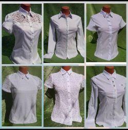 Bluze albe noi (cămăși)