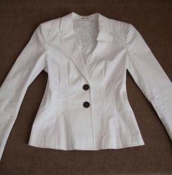Jacket alb feminin 44/46 p Marc Cain
