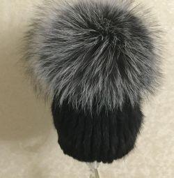 Șapcă de mină cu vulpe argintie
