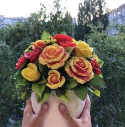 Χειροποίητο μπουκέτο σαπουνιών Το άρωμα των λουλουδιών και των φρούτων