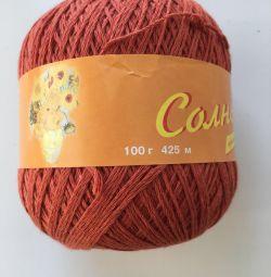Yarn from Troitsk, cotton 100%