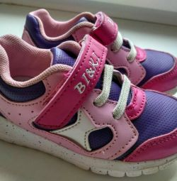 Baby sneakers for a girl of the company Bi & ki