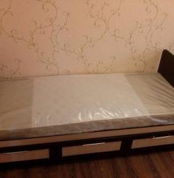 ALEX BED cu cutii noi în ambalaj