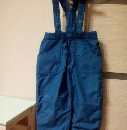 Pantaloni pe căptușeală, creștere 92-98.