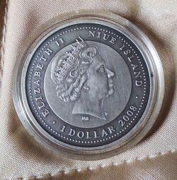 Монета Острова Ниуэ 2009 г 1 Новозеландский доллар