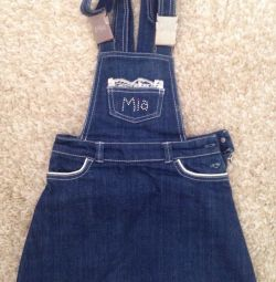 skirt with straps, Mia overalls, 110 cm