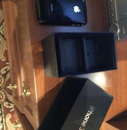 Айфон 3чeрный с зар.устр.,в фирм. коробке