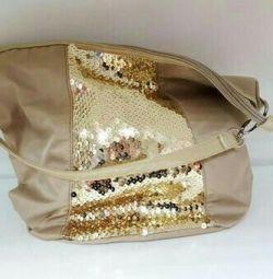 Lady bag beige, new