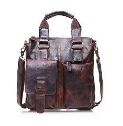 Γνήσια δερμάτινη τσάντα