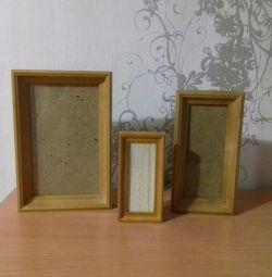 Wooden frames 3pcs