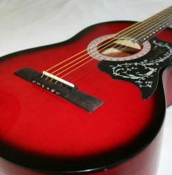 Chitara acustica 4/4 pentru incepatori + carcasa