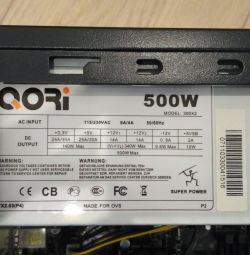 Power Supply Super Power Qori 500W 300X2