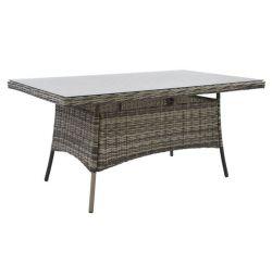 ALUMINUM TABLE RATTAN GRAY HM5139.01 162x92x75