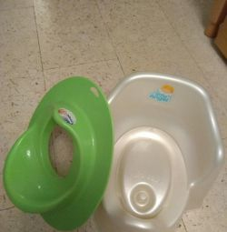 Pot and toilet seat