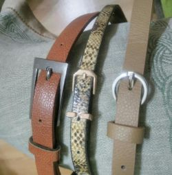 Belts for women's clothes.