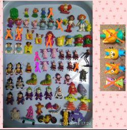 Игрушки герои Marvel и другие из Kinder,Чупа-чупс.