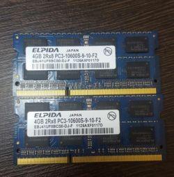 RAM memory for laptop DDR3 4Gb