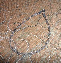 Silver bracelet and earrings