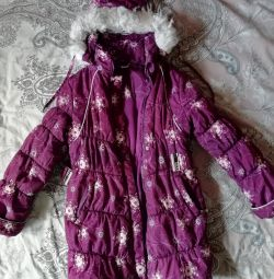 Palton cald pentru iarnă pentru copii 146 cm