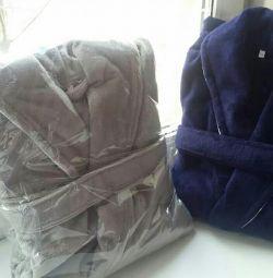 Чоловічі халати велюровий-махрові