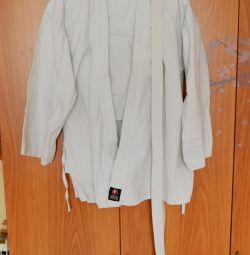 Кимоно: штаны, куртка, пояс. На рост 180
