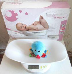 Детские весы в хор. состоянии+ пакет для переноски