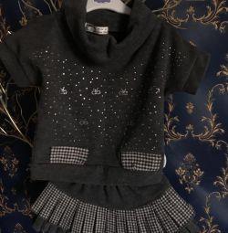 Costum (pulover și fustă) 92-98