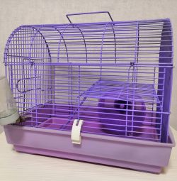 Cage for Hamsters Rodents Two-tier with Wheel