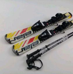 Alpine skiing + sticks for children