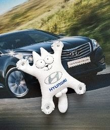 Simon's cat on Hyundai suction cups