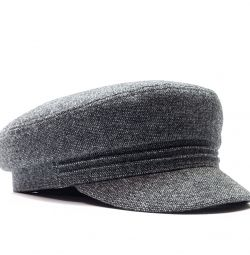 Captain men's wool cap (gray)