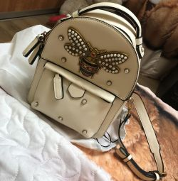 Women's backpack made of genuine leather