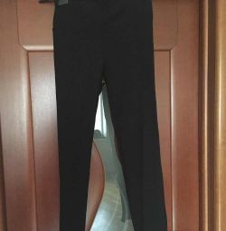 Pantaloni jambiere noi Italy Kasha dimensiunea 46 M negru
