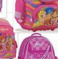Backpacks school. Winx. New