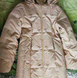 Down jacket beige. M 46 size