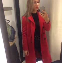 Mohito κόκκινο ίσια παλτό