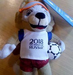 FIFA-2018 Jucărie moale Wolf Zabivaka 21 cm