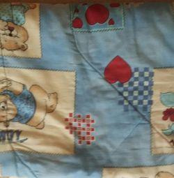 Одеяла и подушка детское шерстяное б/у