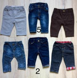 Джинсы брюки для мальчика размер 68