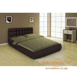 Κλασικό κρεβάτι 1.6 (σκούρο καφέ)
