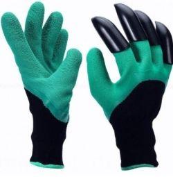 НОВІ Садові рукавички з кігтями Garden Gloves