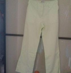 PANTS COLOR GREEN