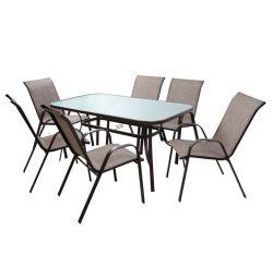 SET Yemek odası 7MM 1 TABLO + 6CROCKETS HM511