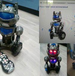 Interactive radio-controlled robot