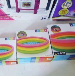 Piscină gonflabilă pentru copii cu fundul moale