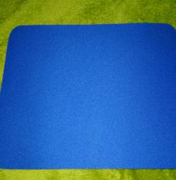Коврик для мыши синий новый