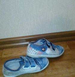 Denim spor ayakkabı