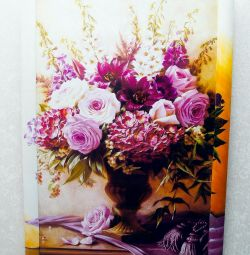 Painting Bouquet 92Х62см in a wooden frame