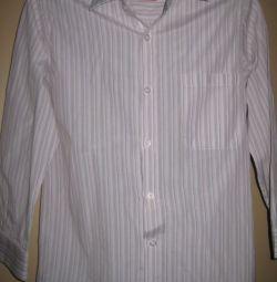 8-10 yaş çocuk için çizgili gömlek